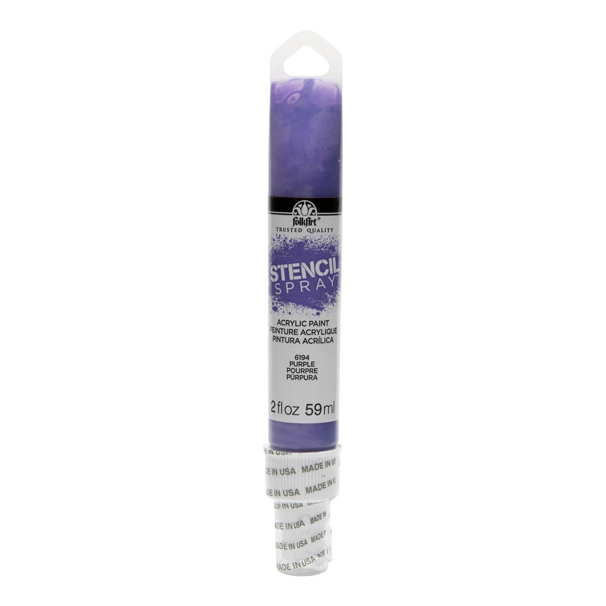 FolkArt ® Stencil Spray™ Acrylic Paint - Purple, 2 oz. - 6194