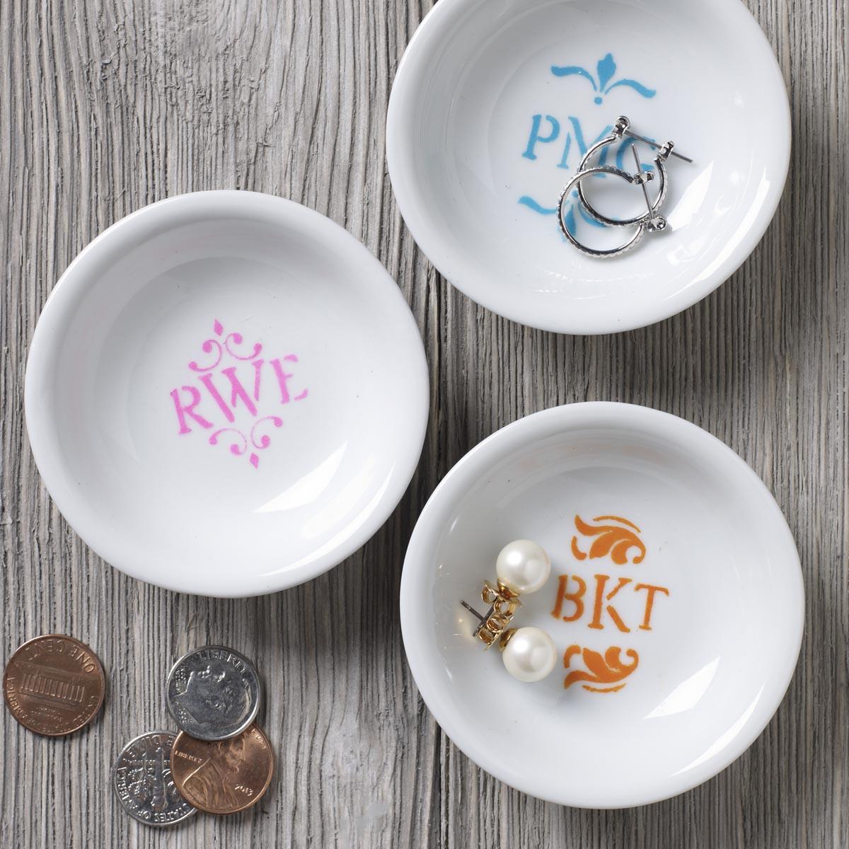 FolkArt ® Painting Stencils - Mini - Monogram
