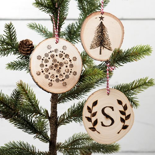 DIY Wood Burned Christmas Ornaments