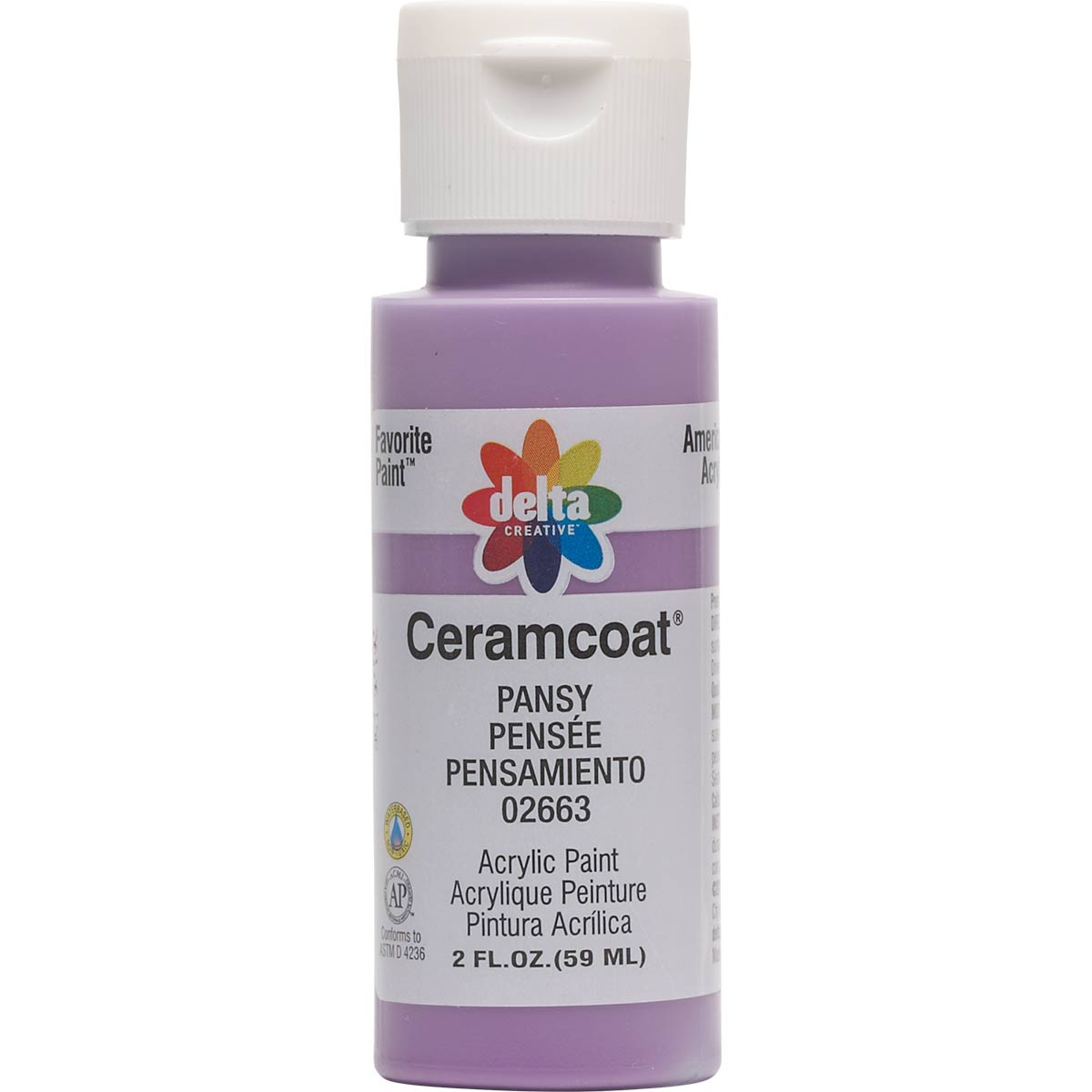 Delta Ceramcoat ® Acrylic Paint - Pansy, 2 oz. - 026630202W