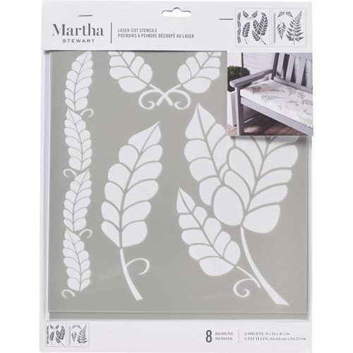 Martha Stewart ® Laser-Cut Stencil - Leaves - 17647