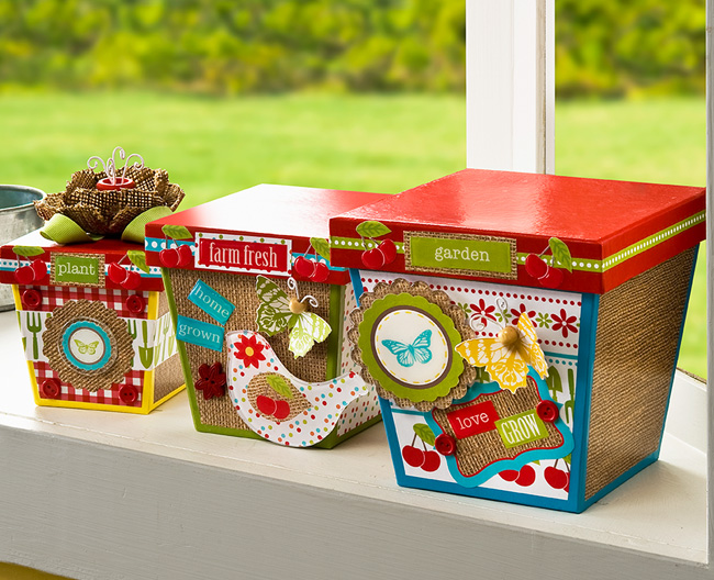 Mod Podge Floral Stacking Boxes