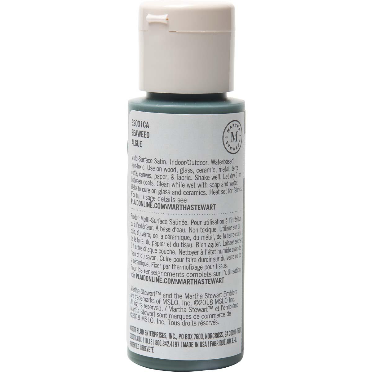 Martha Stewart ® Multi-Surface Satin Acrylic Craft Paint - Seaweed, 2 oz.