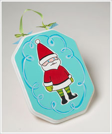 Silly Santa Plaque
