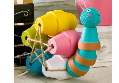 Clay Pot Snail with FolkArt Paint