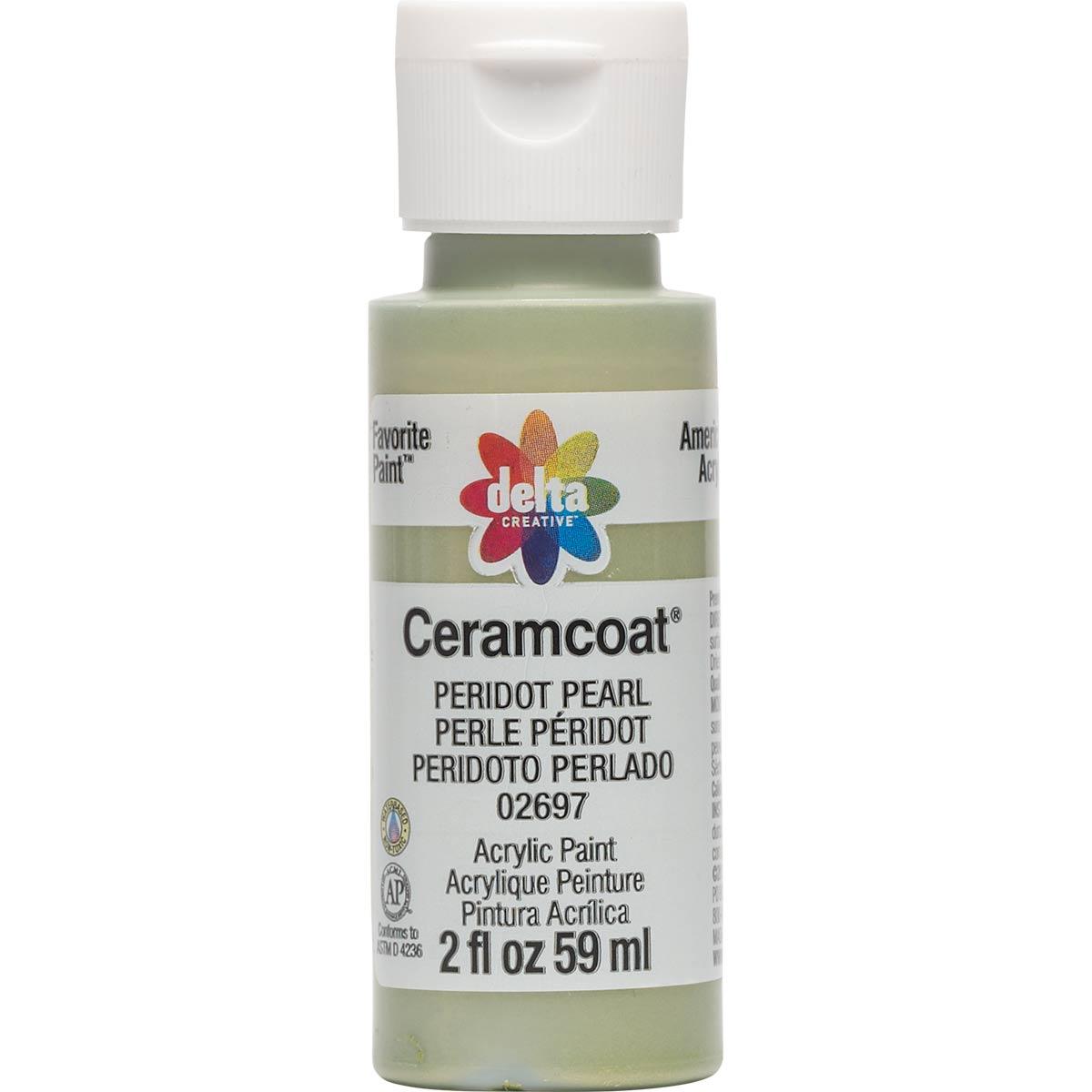 Delta Ceramcoat ® Acrylic Paint - Peridot Pearl, 2 oz. - 02697