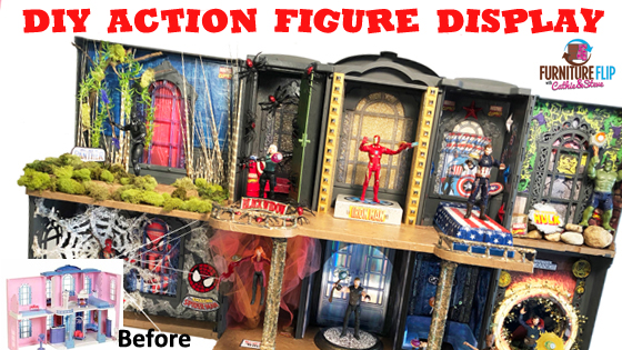 Furniture Flip - DIY Action Figure Display House