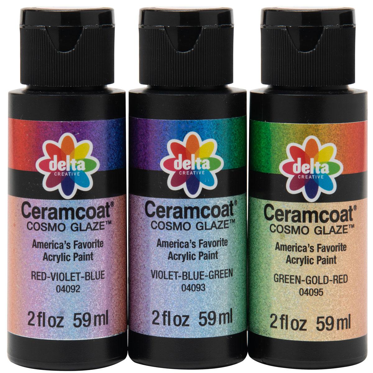 Delta Ceramcoat ® Paint Sets - Cosmo Glaze™ - 3 Color Set - PROMOCG