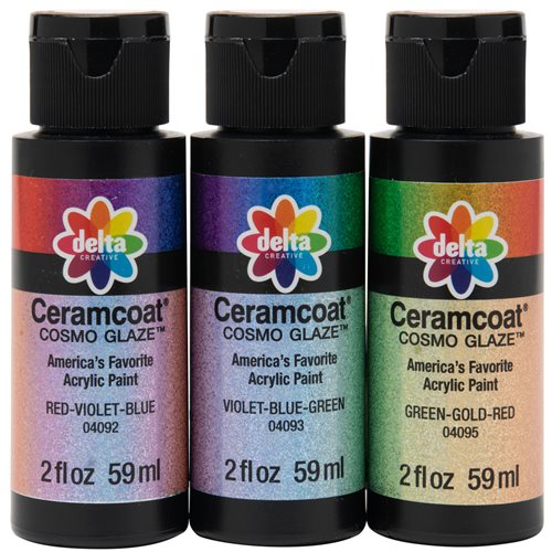 Delta Ceramcoat ® Paint Sets - Cosmo Glaze™ - 3 Color Set - PROMOCG