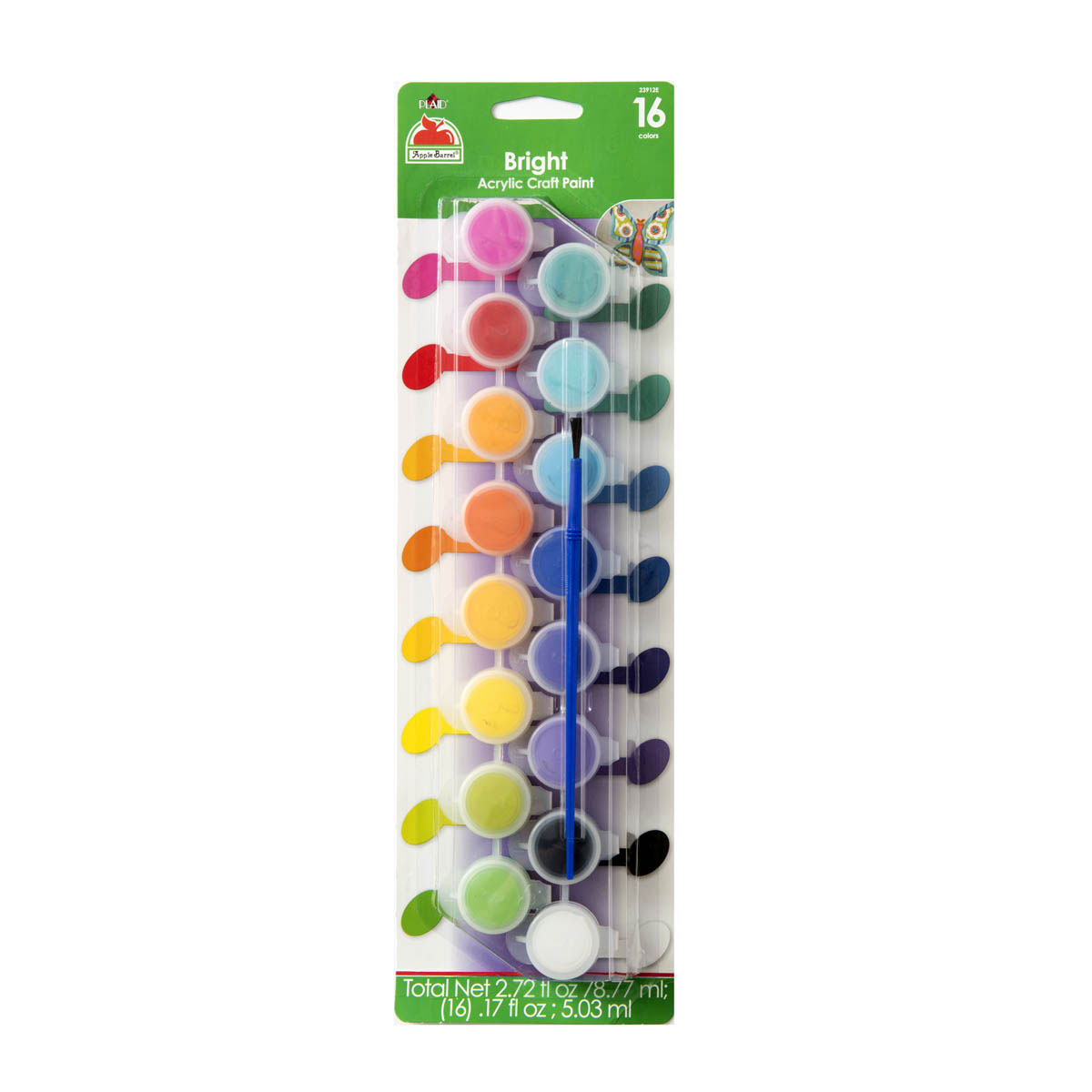 Apple Barrel ® Colors Paint Sets - Brights, 16 Colors - 23912