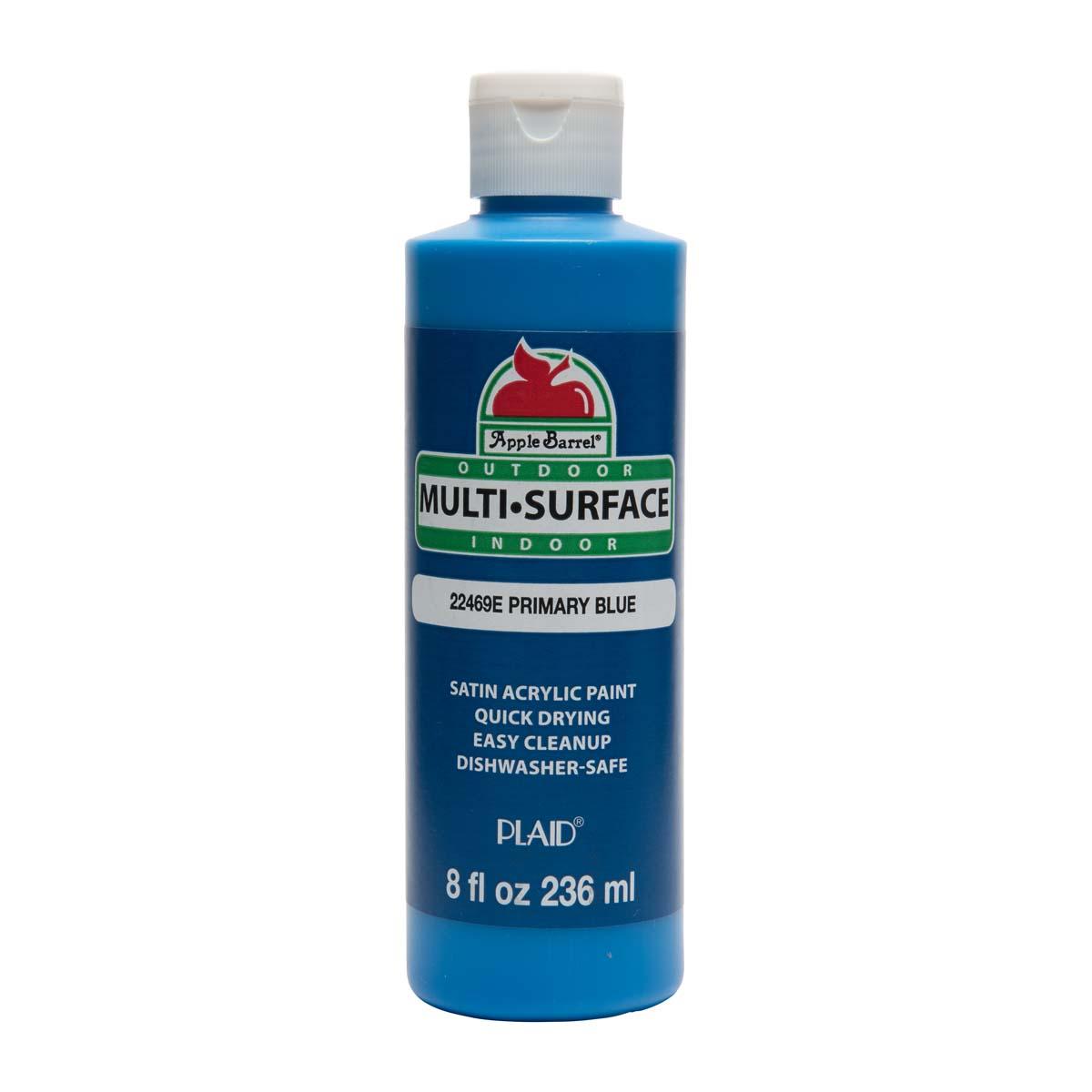 Apple Barrel ® Multi-Surface Satin Acrylic Paints - Primary Blue, 8 oz.