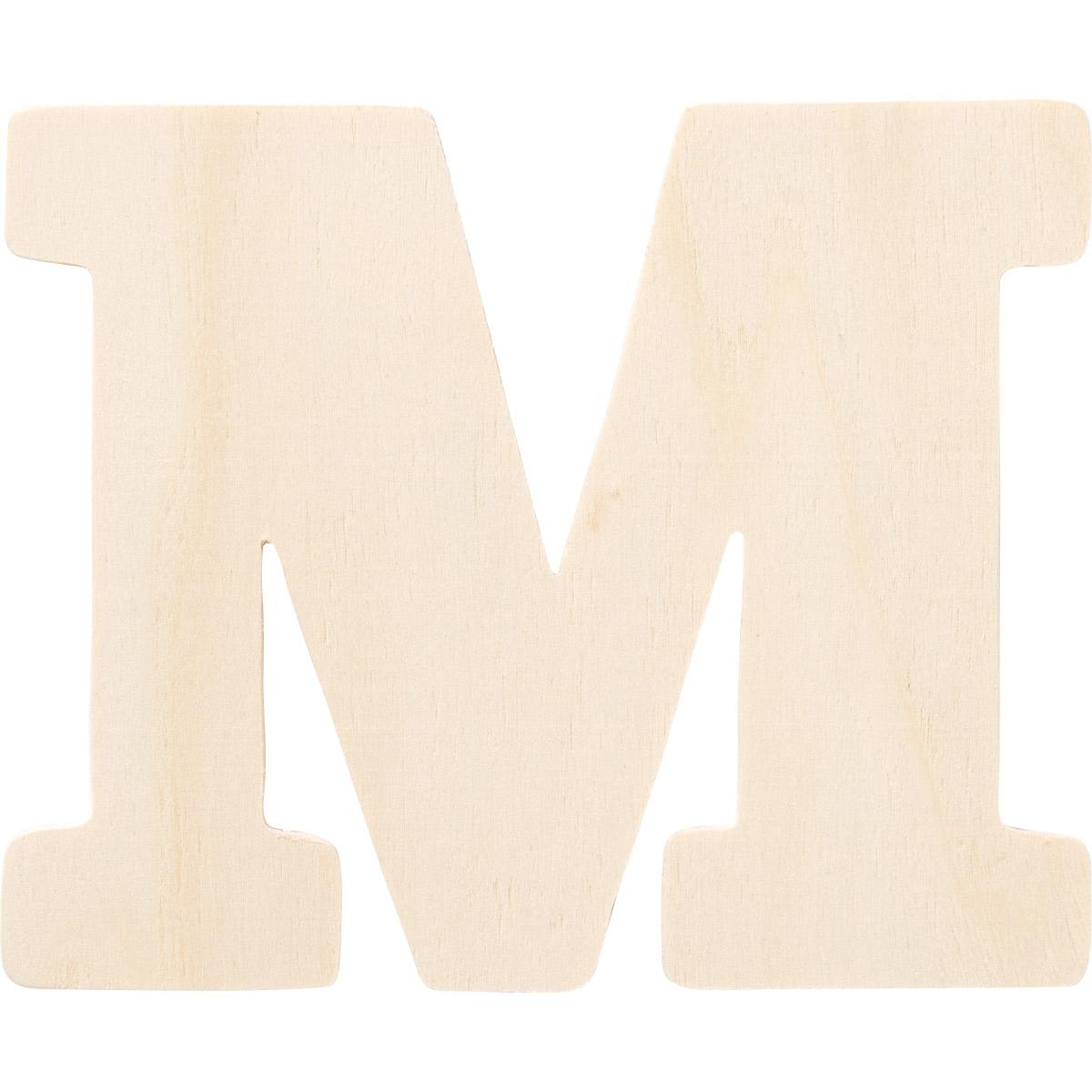 Plaid ® Painter's Palette™ Wood Letter - M. 4 inch