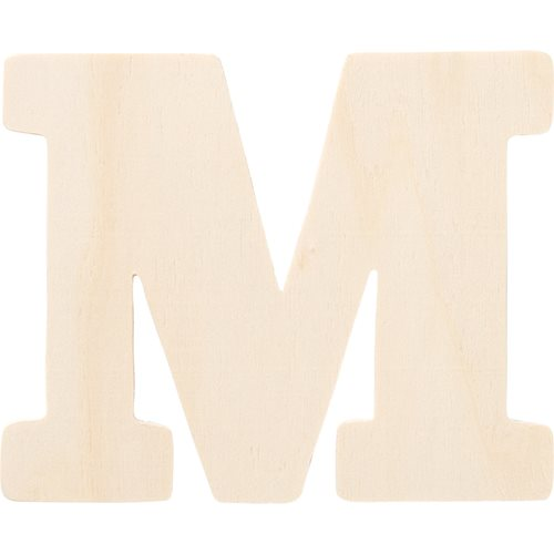 Plaid ® Painter's Palette™ Wood Letter - M. 4 inch - 23877