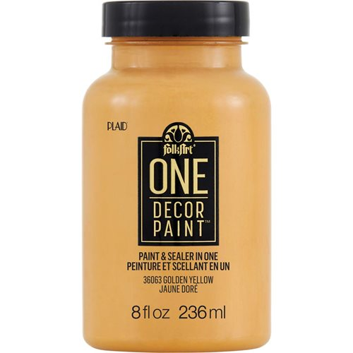 FolkArt ® One Décor Paint™ - Golden Yellow, 8 oz. - 36063