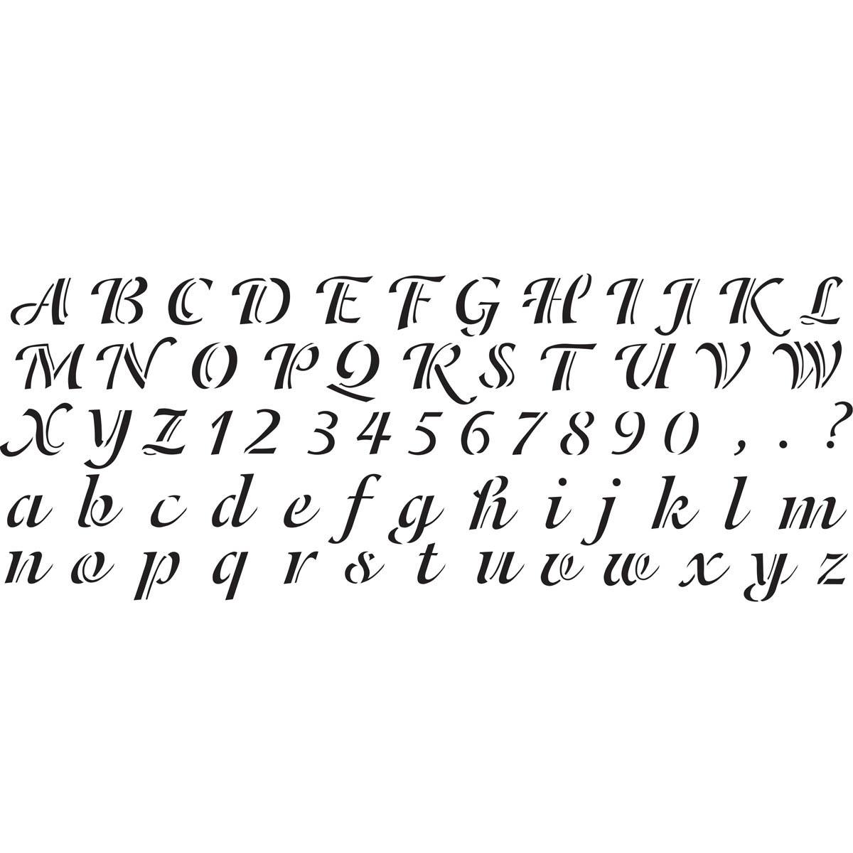 Delta Stencils - Alphabet - Calligraphy