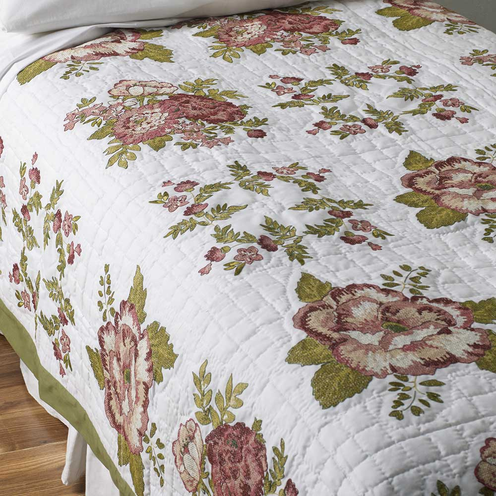 Bucilla ® Waverly ® Norfolk Rose Antique Collection Stamped Quilt Blocks