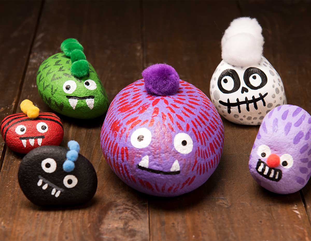 Painted Rock Monster Buddies