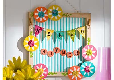 Hello Summer Welcome Plaque