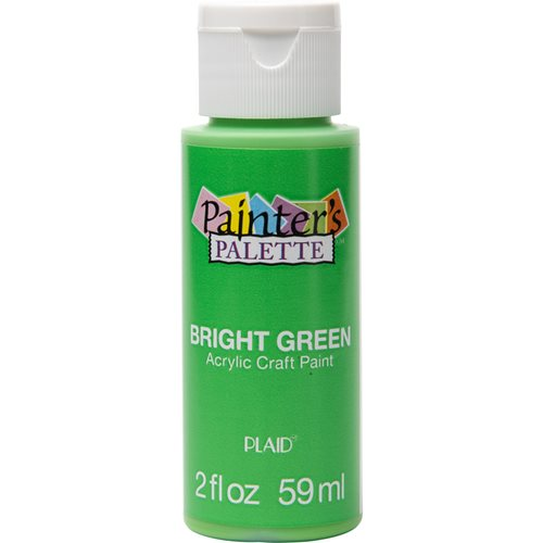 Plaid ® Painter's Palette™ Acrylic Paint - Bright Green, 2 oz.
