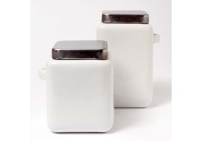 Bohemian Chalk Ceramic Jars