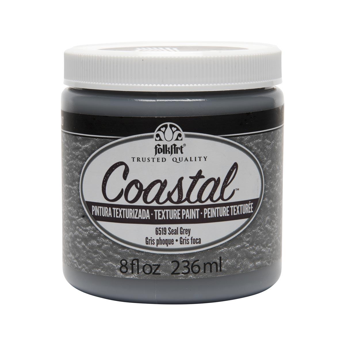 FolkArt ® Coastal™ Texture Paint - Seal Grey, 8 oz.