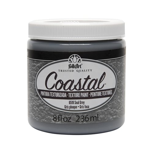 FolkArt ® Coastal™ Texture Paint - Seal Grey, 8 oz.