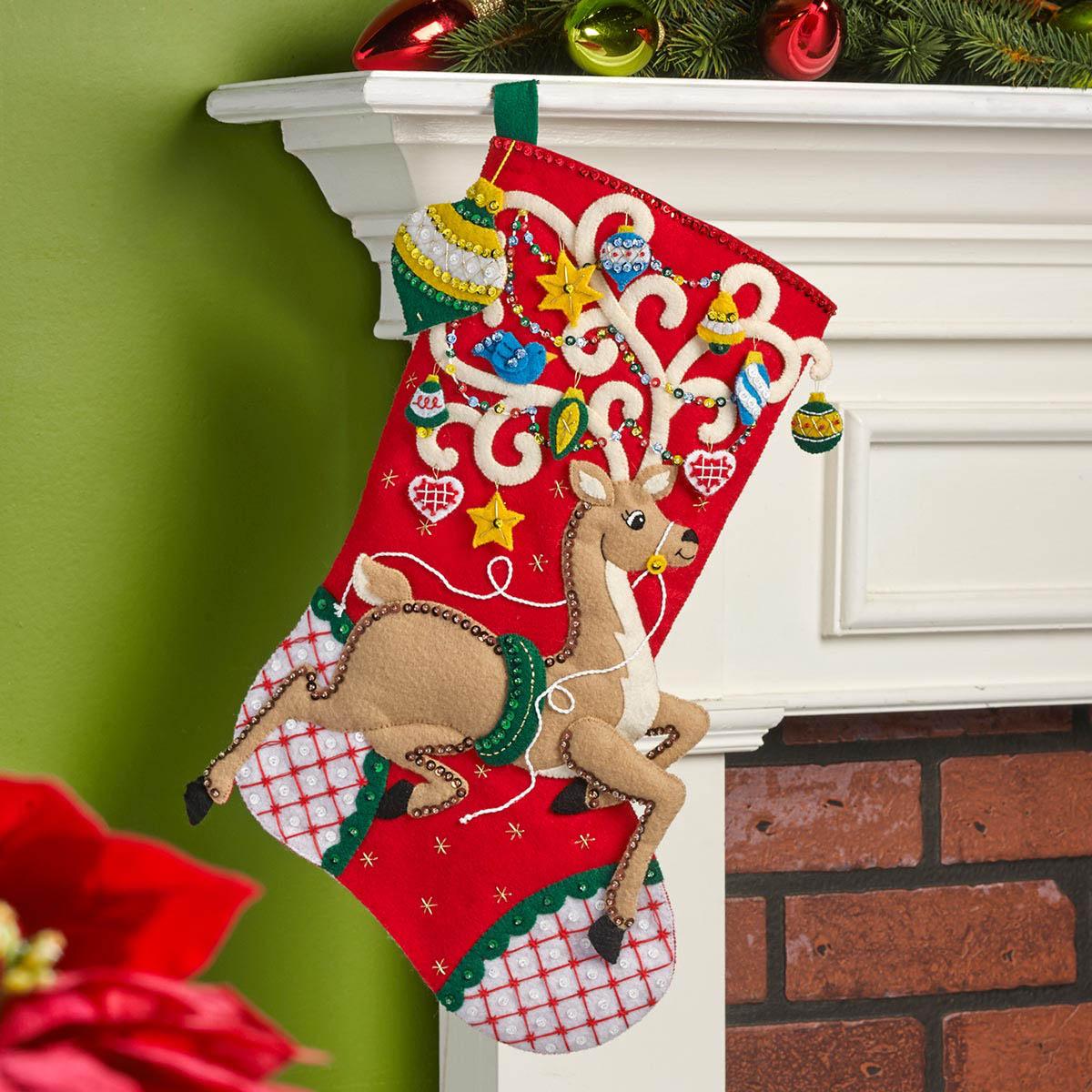 Bucilla ® Seasonal - Felt - Stocking Kits - Ornamental Deer