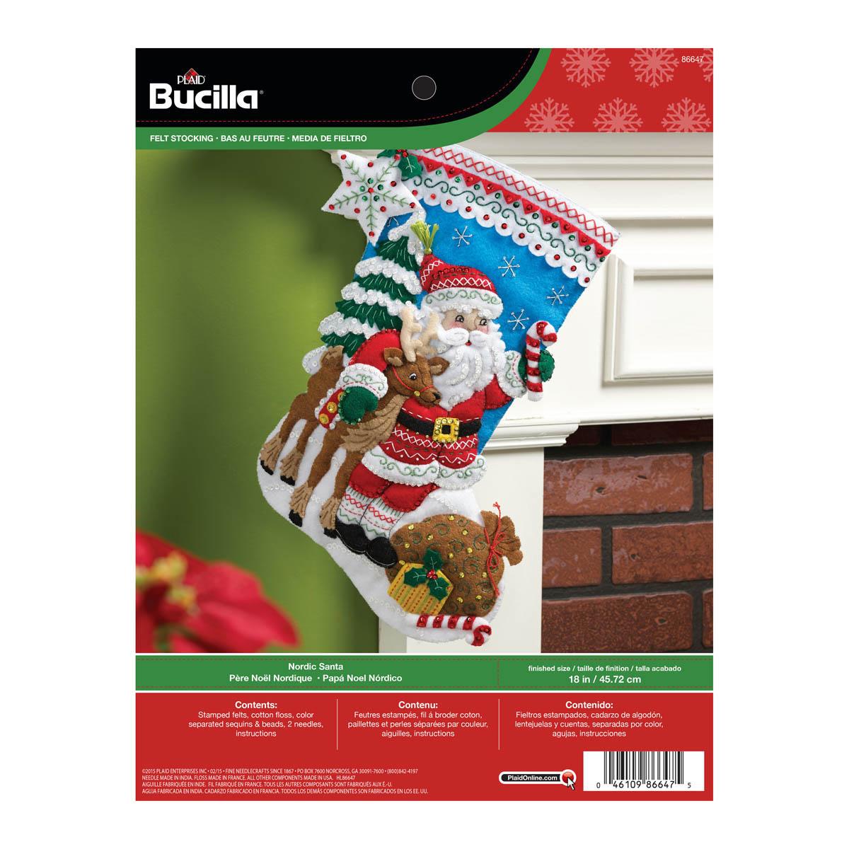 Bucilla ® Seasonal - Felt - Stocking Kits - Nordic Santa - 86647