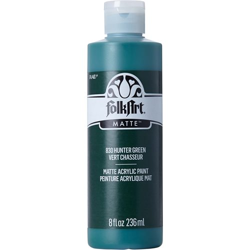 FolkArt ® Acrylic Colors - Hunter Green, 8 oz. - 830