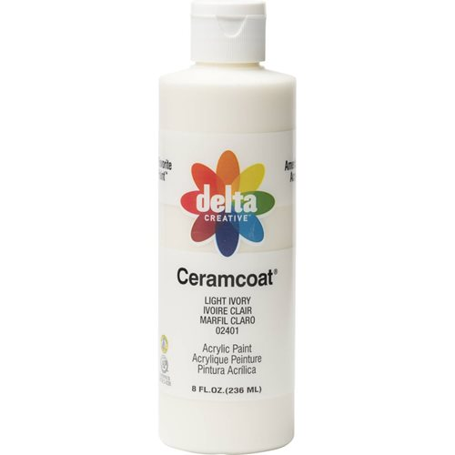 Delta Ceramcoat ® Acrylic Paint - Light Ivory, 8 oz.