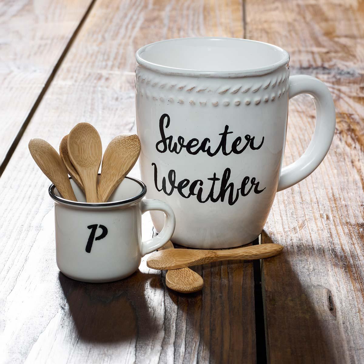 Painted Monogram Coffee Cup DIY