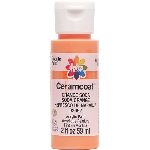 Delta Ceramcoat ® Acrylic Paint - Orange Soda, 2 oz. - 02692