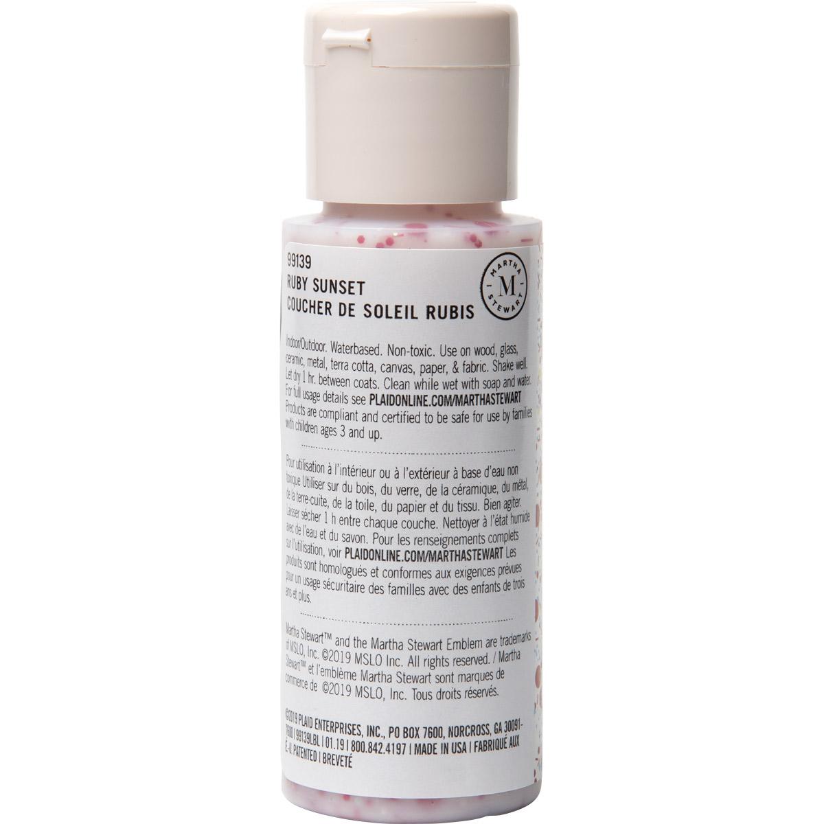 Martha Stewart® 2oz Multi-Surface Confetti Glitter Acrylic Craft Paint - Ruby Sunset