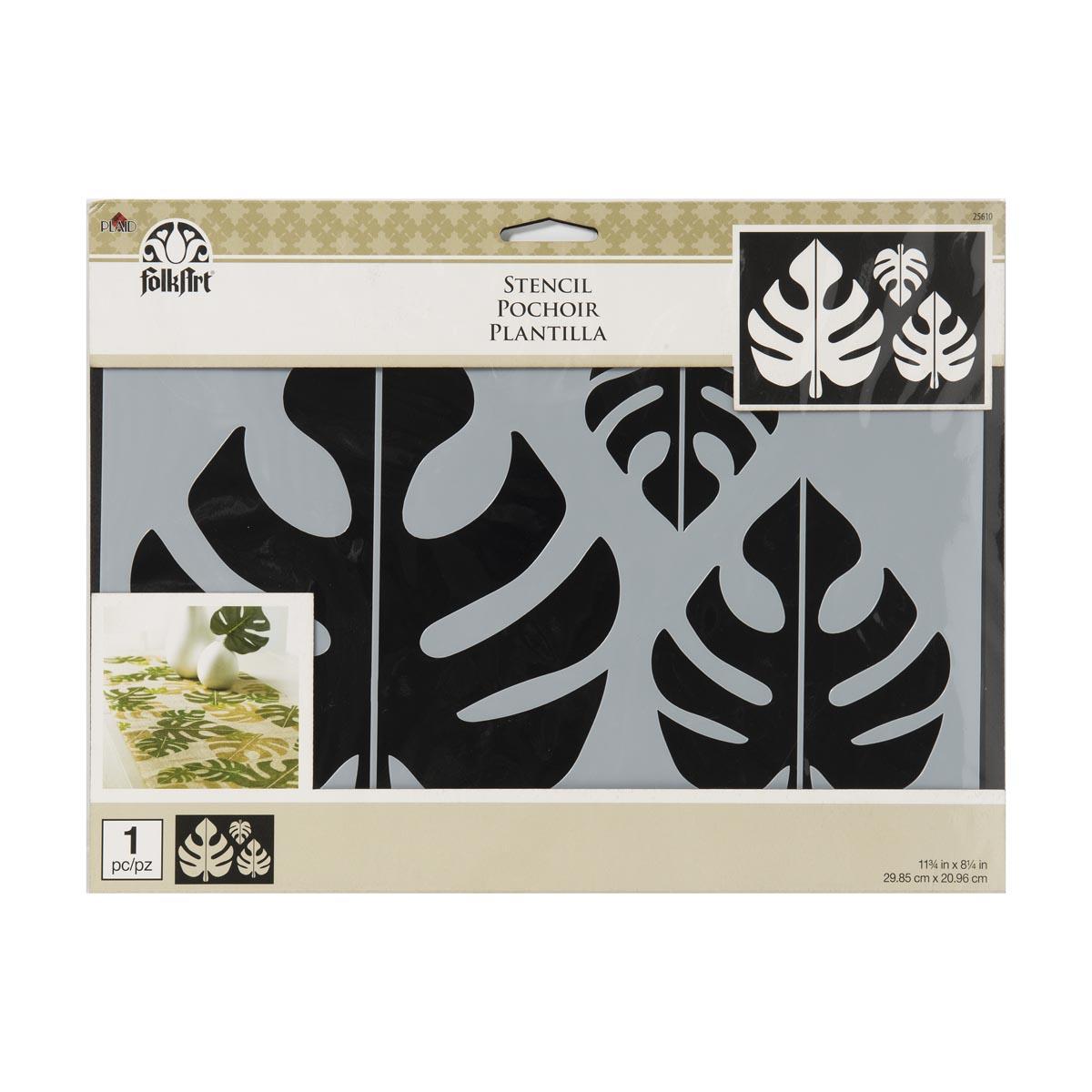 FolkArt ® Painting Stencils - Tropical Leaf Motif