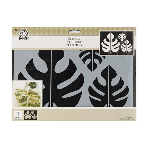 FolkArt ® Painting Stencils - Tropical Leaf Motif - 25610