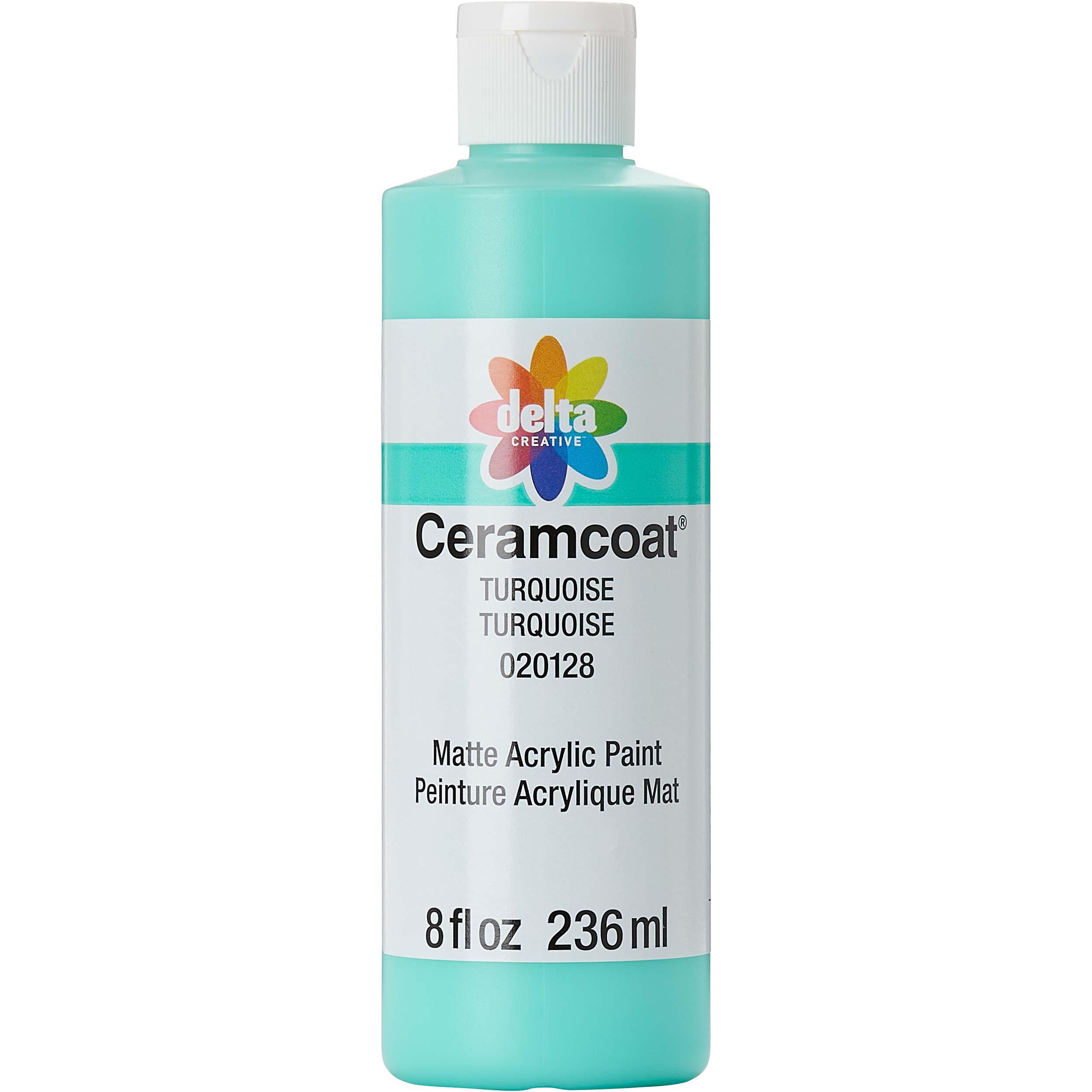 Delta Ceramcoat ® Acrylic Paint - Turquoise, 8 oz. - 020128