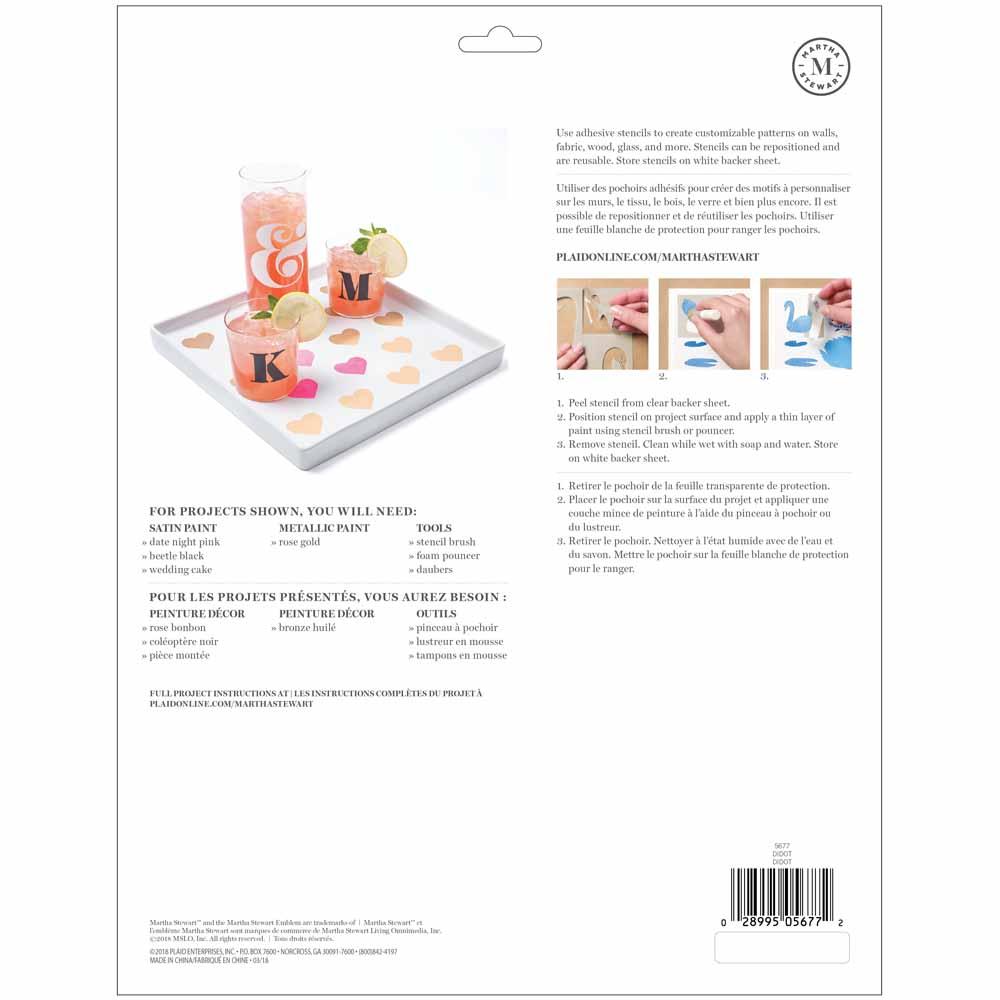 Martha Stewart ® Adhesive Stencil - Didot - 5677