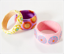 Decoupaged Colorful Bracelets