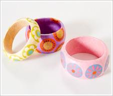 Decoupaged Colorful Bracelets