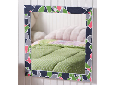 Floral Edged Mirror with Mod Podge