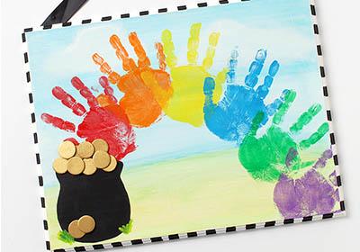 St. Patrick's Day Rainbow Plaque