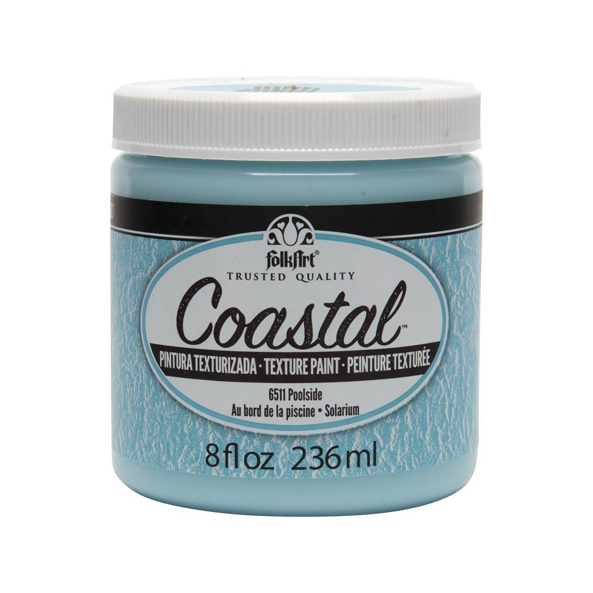FolkArt ® Coastal™ Texture Paint - Poolside, 8 oz.
