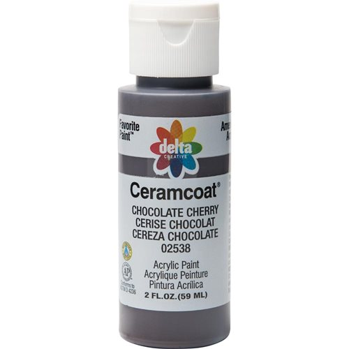 Delta Ceramcoat ® Acrylic Paint - Chocolate Cherry, 2 oz.
