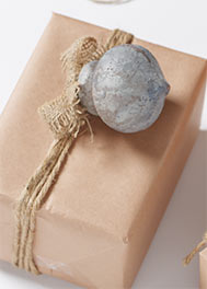 Painted Paper Mache Round Ornament