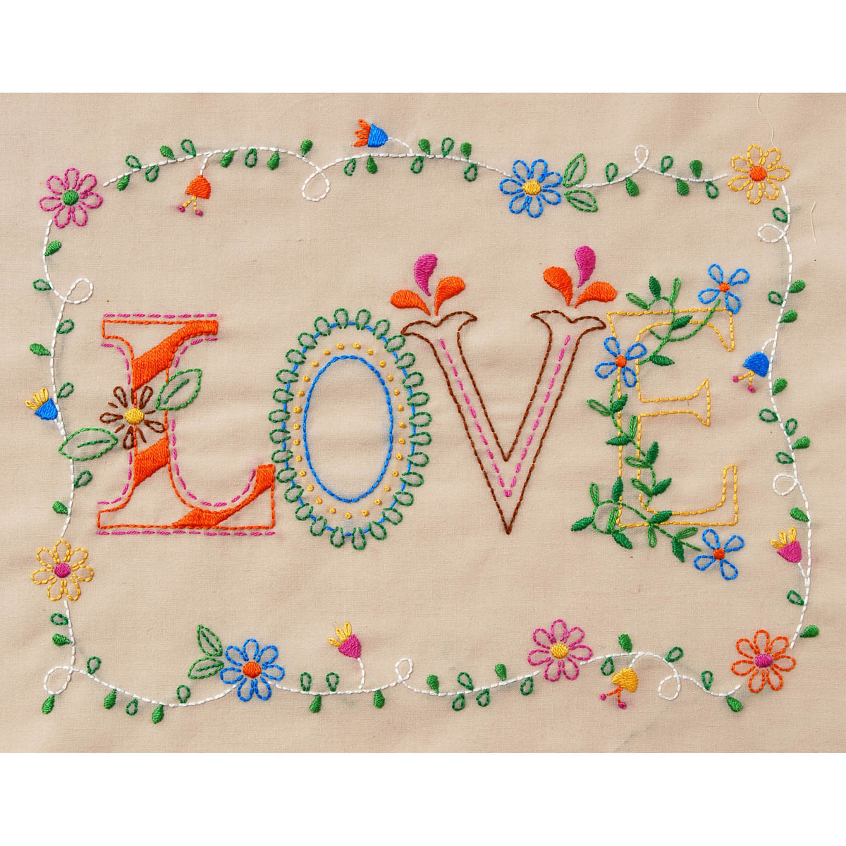 Bucilla ® Stamped Embroidery - Picture Kits - Love