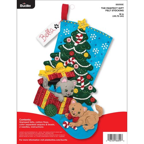 bucilla seasonal felt stocking kits the pawfect gift - Christmas Stocking Kits