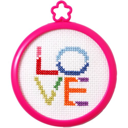 Bucilla ® My 1st Stitch™ - Counted Cross Stitch Kits - Mini - Love