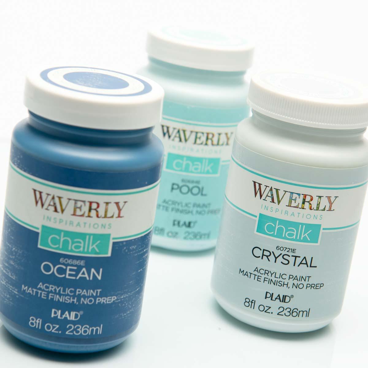 Waverly ® Inspirations Chalk Finish Acrylic Paint Set - Blues, 3 pc. - 13404