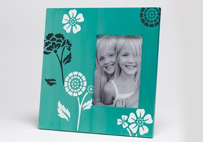 Patterned Floral Frame