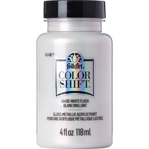 FolkArt ® Color Shift™ Acrylic Paint - White Flash, 4 oz. - 44495